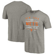 New York Mets Fanatics Branded Cooperstown Collection Doubleday Tri-Blend T-Shirt - Gray