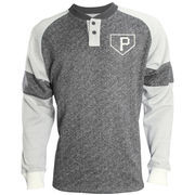 Pittsburgh Pirates Stitches Twisted Yarn Henley Long Sleeve T-Shirt – Black