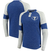 Texas Rangers Stitches Twisted Yarn Henley Long Sleeve T-Shirt – Royal