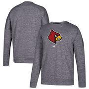 Louisville Cardinals adidas School Logo climawarm Sweatshirt - Charcoal