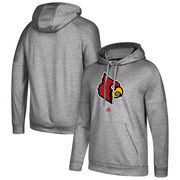 Louisville Cardinals adidas School Logo climawarm Fleece Pullover Hoodie - Gray