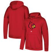 Louisville Cardinals adidas School Logo climawarm Fleece Pullover Hoodie - Red