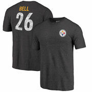 Le'Veon Bell Pittsburgh Steelers NFL Pro Line by Fanatics Branded Icon Tri-Blend Player Name & Number T-Shirt - Heathered Black