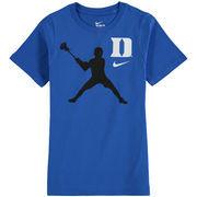 Duke Blue Devils Nike Youth Lacrosse Player T-Shirt – Royal