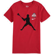 Ohio State Buckeyes Nike Youth Lacrosse Player T-Shirt – Scarlet