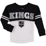 Los Angeles Kings 5th & Ocean by New Era Girls Youth Baby Jersey Long Sleeve Stripe T-Shirt - White/Black