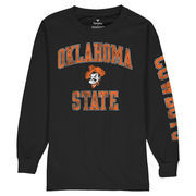 Oklahoma State Cowboys Fanatics Branded Youth Distressed Arch Over Logo Long Sleeve T-Shirt - Black
