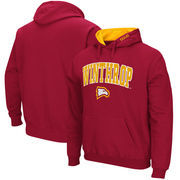 Winthrop Eagles Arch & Logo Pullover Hoodie - Cardinal
