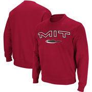 MIT Engineers Stadium Athletic Arch & Logo Crew Neck Sweatshirt - Cardinal