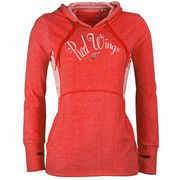 Detroit Red Wings Antigua Women's Fashion Rundown Pullover Hoodie - Heathered Red