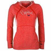 Washington Capitals Antigua Women's Fashion Rundown Pullover Hoodie - Heathered Red