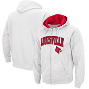 Louisville Cardinals Arch & Logo Tackle Twill Full-Zip Hoodie – White