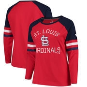 St. Louis Cardinals Fanatics Branded Women's Plus Size Iconic Raglan Long Sleeve T-Shirt - Red/Navy