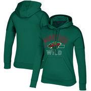 Minnesota Wild adidas Women's Open Box Stack Hoodie – Green