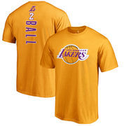 Lonzo Ball Los Angeles Lakers Fanatics Branded Backer Name & Number T-Shirt - Gold