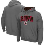 Brown Bears Arch & Logo Tackle Twill Pullover Hoodie - Charcoal