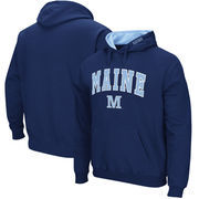 Maine Black Bears Arch & Logo Tackle Twill Pullover Hoodie - Navy