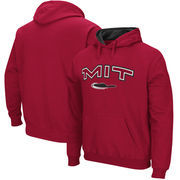 MIT Engineers Arch & Logo Tackle Twill Pullover Hoodie - Cardinal
