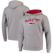 MIT Engineers Arch & Logo Tackle Twill Pullover Hoodie - Heathered Gray
