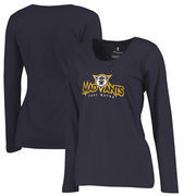 Fort Wayne Mad Ants Fanatics Branded Women's Primary Logo Plus Size Long Sleeve T-Shirt - Navy