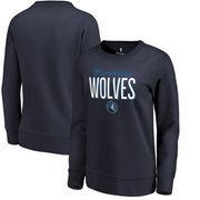 Minnesota Timberwolves Women's Fanatics Branded Nostalgia Pullover Sweatshirt - Navy
