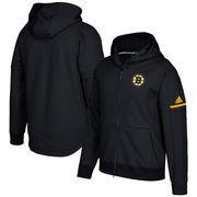 Boston Bruins adidas Authentic Pro Squad ID Full-Zip Hooded Sweatshirt – Black