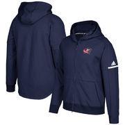 Columbus Blue Jackets adidas Authentic Pro Squad ID Full-Zip Hooded Sweatshirt – Navy