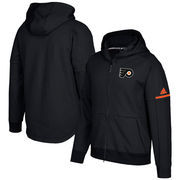 Philadelphia Flyers adidas Authentic Pro Squad ID Full-Zip Hooded Sweatshirt – Black