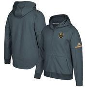 Vegas Golden Knights adidas Authentic Pro Squad ID Full-Zip Hooded Sweatshirt – Gray