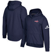 Washington Capitals adidas Authentic Pro Squad ID Full-Zip Hooded Sweatshirt – Navy
