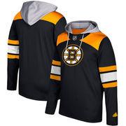 Boston Bruins adidas Silver Jersey Pullover Hoodie - Black