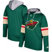 Minnesota Wild adidas Silver Jersey Pullover Hoodie - Green