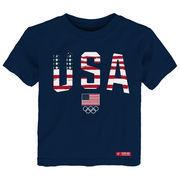 Team USA Toddler Flag Wordmark T-Shirt - Navy