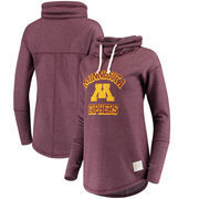 Minnesota Golden Gophers Original Retro Brand Women's Funnel Neck Pullover Sweatshirt - Maroon