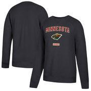 Minnesota Wild CCM Fleece Pullover Sweatshirt - Black