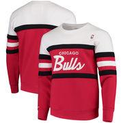 Chicago Bulls Mitchell & Ness Coaches Crew Neck Pullover Sweatshirt - Red