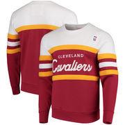 Cleveland Cavaliers Mitchell & Ness Coaches Crew Neck Pullover Sweatshirt - Wine