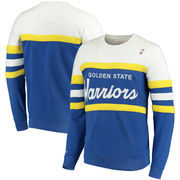 Golden State Warriors Mitchell & Ness Coaches Crew Neck Pullover Sweatshirt - Royal