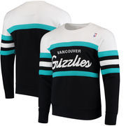 Vancouver Grizzlies Mitchell & Ness Coaches Crew Neck Pullover Sweatshirt - Navy