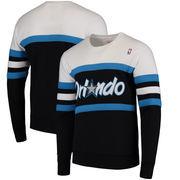 Orlando Magic Mitchell & Ness Coaches Crew Neck Pullover Sweatshirt - Black