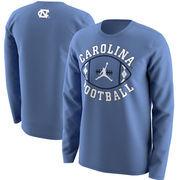 North Carolina Tar Heels Jordan Brand Football Long Sleeve T-Shirt - Carolina Blue