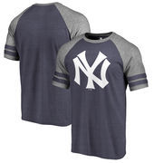 New York Yankees Fanatics Branded Huntington Cooperstown Collection Tri-Blend T-Shirt - Navy