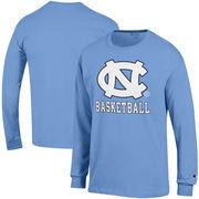 North Carolina Tar Heels Champion Basketball Drop Long Sleeve T-Shirt - Carolina Blue