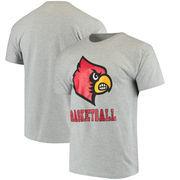 Louisville Cardinals Champion Basketball Drop T-Shirt - Gray