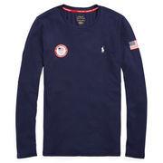 Team USA Polo Ralph Lauren Women's 2018 Winter Olympics Flag Long Sleeve T-Shirt – Navy