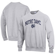 Notre Dame Fighting Irish Champion Reverse Weave Crewneck Sweatshirt – Gray