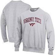 Virginia Tech Hokies Champion Reverse Weave Crewneck Sweatshirt – Gray