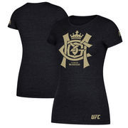 Conor McGregor UFC Reebok Women's Foil T-Shirt - Heather Black