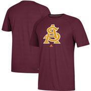 Arizona State Sun Devils adidas School Logo Ultimate Performance T-Shirt – Maroon