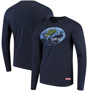 Team USA Downhill Winter Games Long Sleeve T-Shirt – Navy
